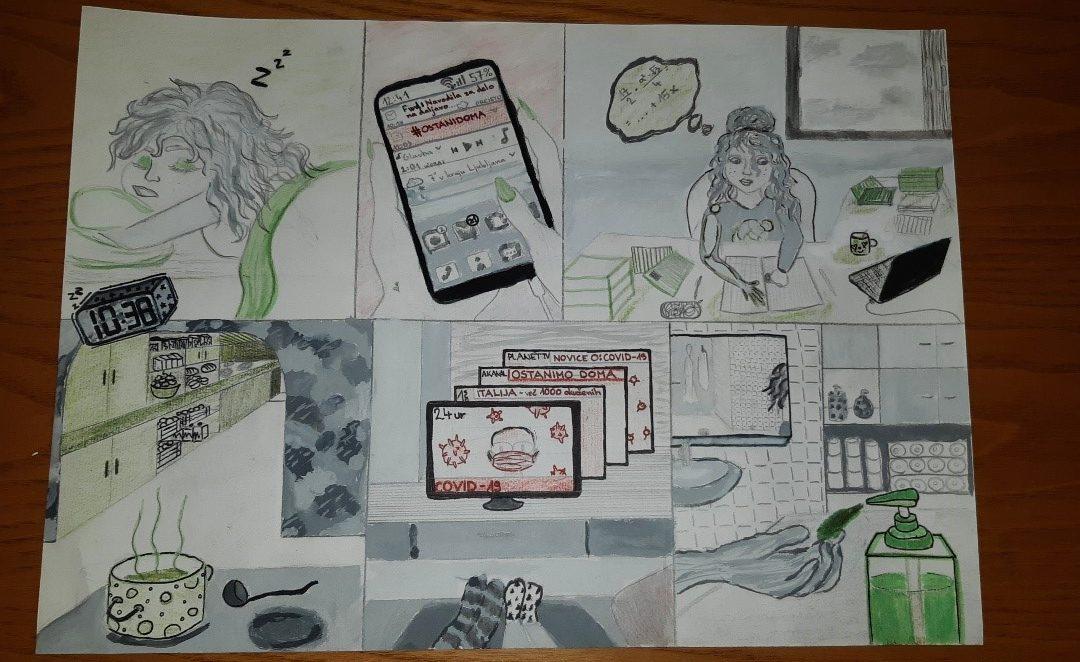 Državni spletni Stripovski natečaj »Življenje v času koronavirusa« Muzeja novejše zgodovine Slovenije